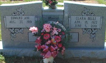 [Edward] Abe and Clara Belle Self Tombstone