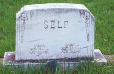 Tombstone of Camp L. Self and wife Emma (Murray) Self