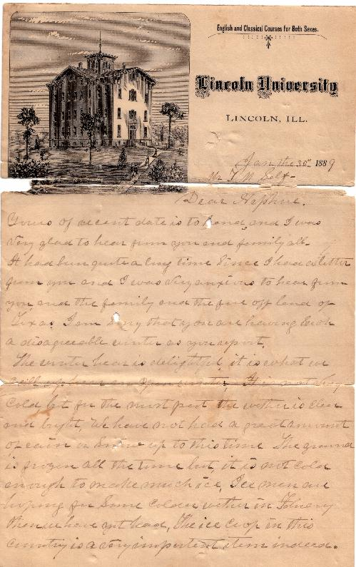 James Chase Letter to Francis Marion Self