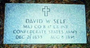 Grave Marker of D. W. Self