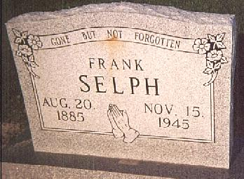 Tombstone of Frank Selph (1885-1945)