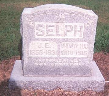 Tombstone of Jesse E. Brown Selph