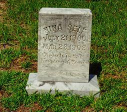 Nina Self's Grave, Self Cemetery, Vernon Parish, LA