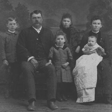 Joseph Nelson Self Family, 1889